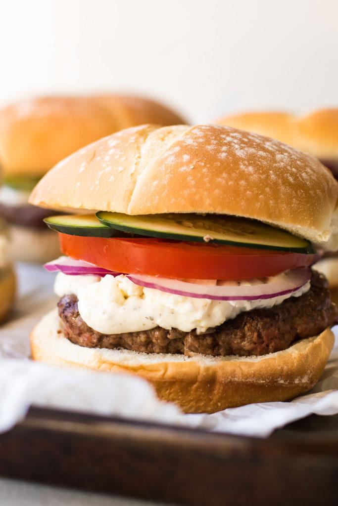 lamb burgers.