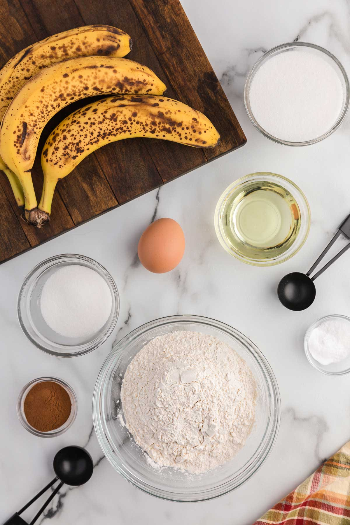 ingredients for the bread.