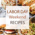 labor day recipes photo collage.