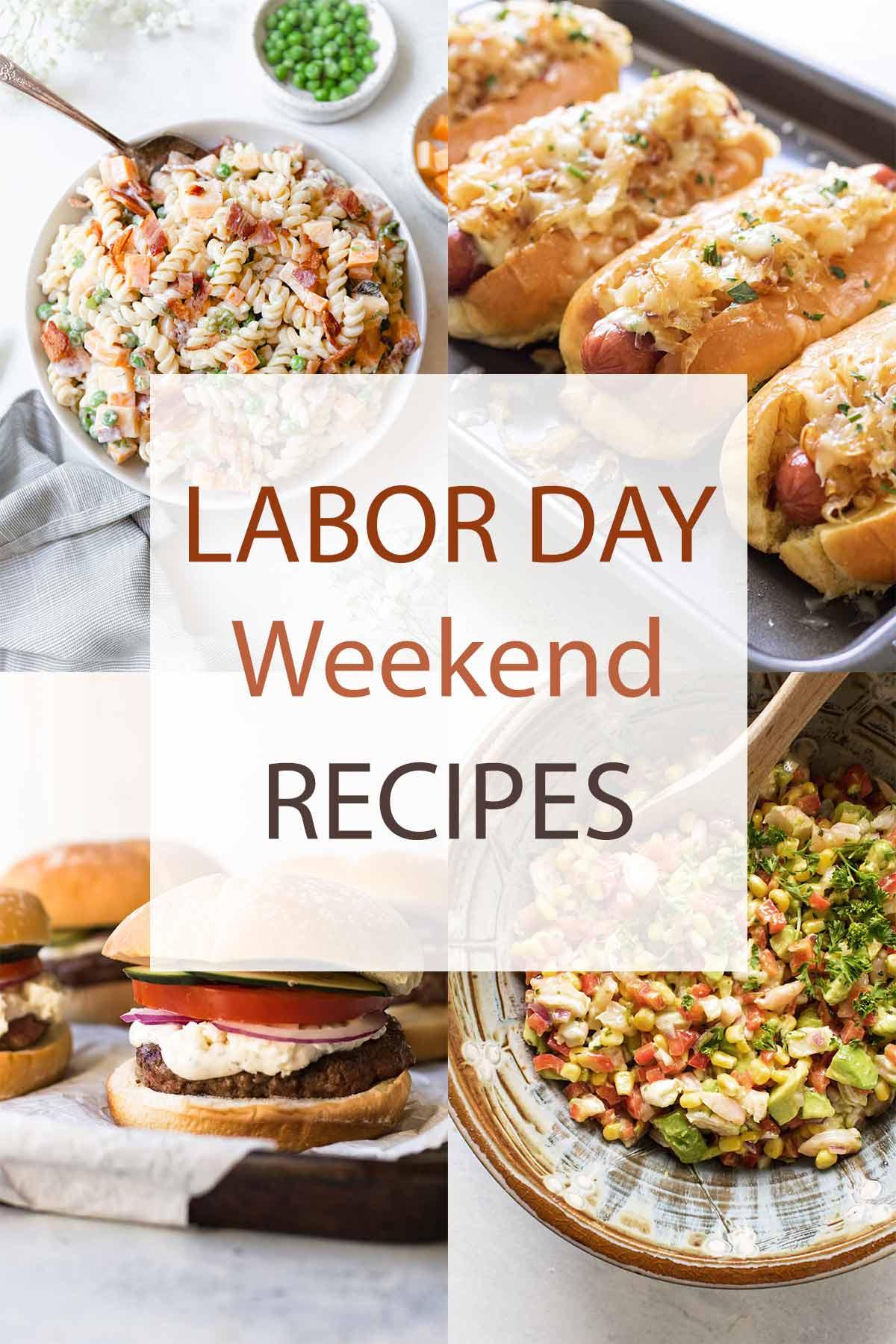 Labor day recipe photo collage.