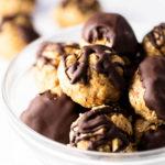 peanut butter oatmeal balls in a bowl